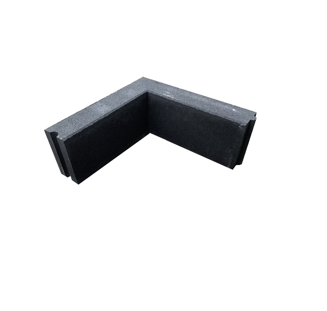 10x20x50 opsluitband hoekstuk zwart