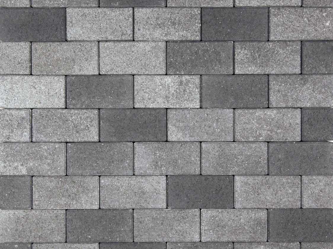 8060098 Beton Rechteckpfl. grau-schwarz 8cm