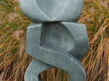 Natuursteen Afrikaans Beeld, hoogte 75 cm