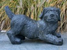 Natuursteen Pup, hoogte 32 cm