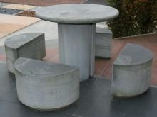 Natuursteen Tuinset, kinderzitje, Ø 70 cm, hoogte 60 cm