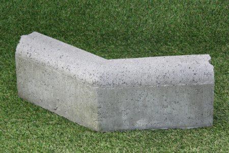 GazonHoekstuk 10x20 cm grijs 135°