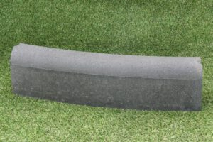 Gazonbochtband 10x20 cm grijs