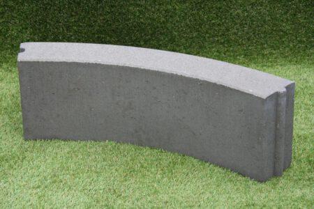 Bochtband 12x25 cm grijs