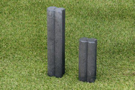 DuoPalissade rond 6 cm 25-40 cm hoog zwart