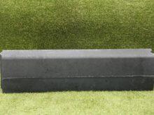 Trottoirband 13/15x25x100 cm zwart
