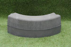 Bochtband 13/15x25 cm grijs