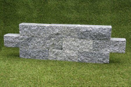 Granietblok 12x12x30 cm grijs geknipt