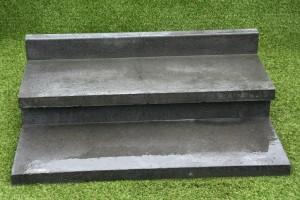 Traptede OudHollands L-element 15x40x100 cm Antraciet
