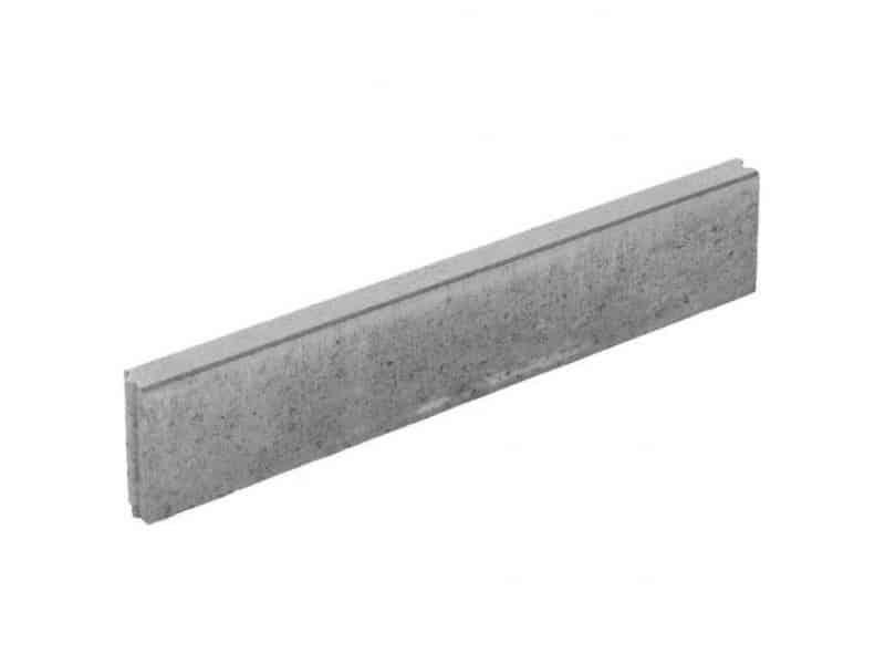 Opsluitband grijs 6x20x100 cm