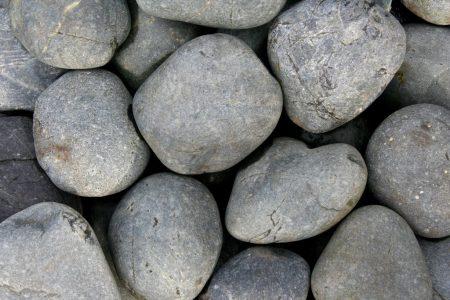 Beach Pebbles zwart 8-15 cm