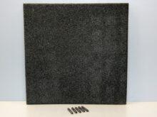 Rubbertegel 50x50x3 cm zwart pen en gat