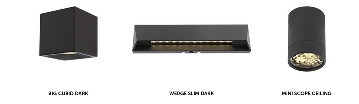 BIG CUBID DARK, WEDGE SLIM DARK MINI SCOPE CEILING