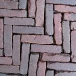Oud gebakken Klinkers Waalformaat rood paars elleboog